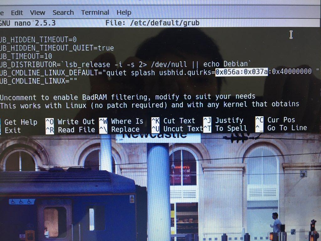masukin ke grub wacom ctl-472 dan ubuntu