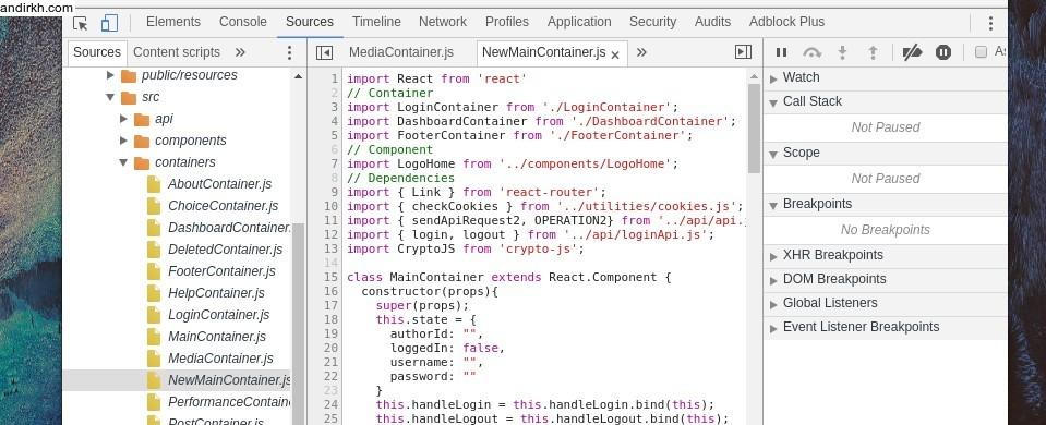 """Source code yg terekspos di chrome developer tools"""