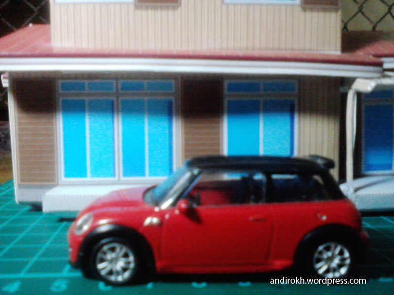 Nobita House and Mini Cooper